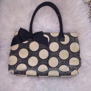Talbots Polka Dot Tote Bag